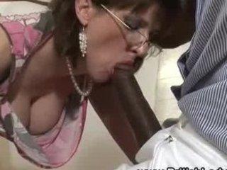 cougar brit femdom mixed blowjob