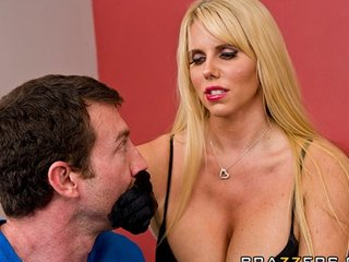 horny big-tit blonde woman karen fisher into
