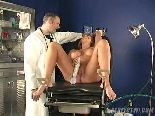 nurse and his associate takes care of mature babe