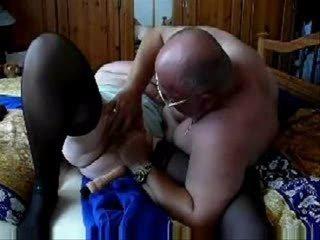 elderly grannny still likes porn ! young