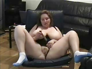 older fisting watching a porno. amateur elderly