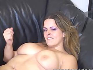 masturbation coach flaunts her giant boobs to