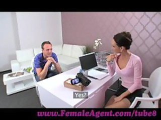 femaleagent. older girl seduces hesitant stud