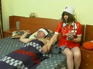 grownup nurse at patient home