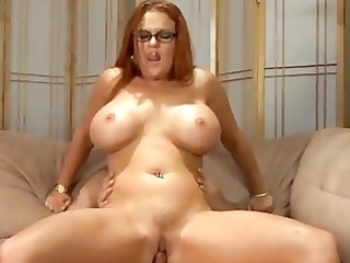 large breast red-haired woman fucked