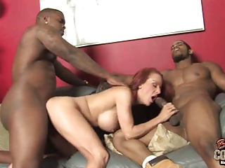 grown-up lady shannon kelly anally gang-banged by