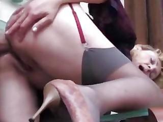 older belle gangbanged in the ass