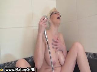 tattooed cougar woman pleasing