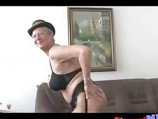 filthy euro elderly with glasses acquires