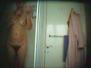 hirsute mom into the bathroom