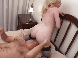 busty blonde momma takes her pussy licked and