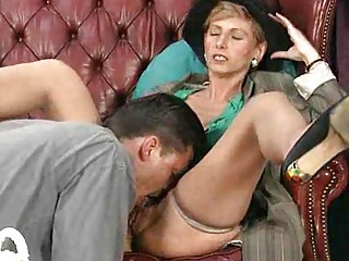 elderly mom enjoys her primary anal sex