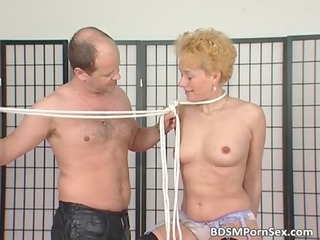 woman pale acquires tits tied into those