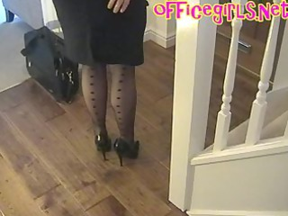 giant bossom grown-up assistant inside pantyhose