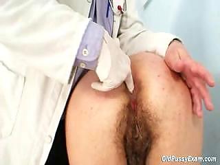 busty grandpa medic examines old irmas hairy bitch