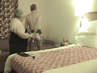 elderly domme in act