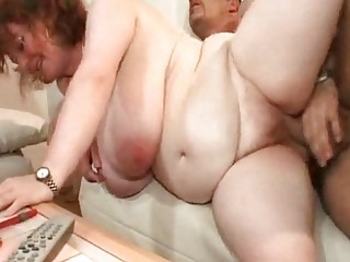 bbw jill large saggy boobs old