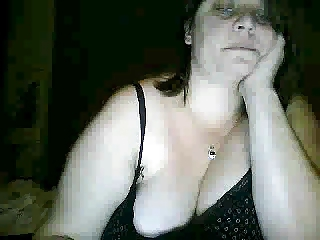 horny woman exposes chest and butt