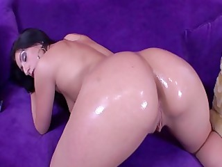 extremely impressive brunette angel nailed on the
