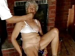 bushy granny with vibrators