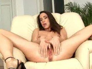 bushy brunette milf orgasm