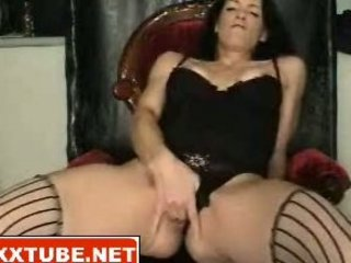 brunette woman squirts cave juice