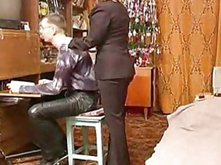 russian grown-up milf with schoolboy