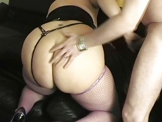 super blond uk lady gang-bangs with nice hung stud