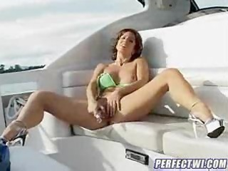 debauchery of a awesome milf on the ship