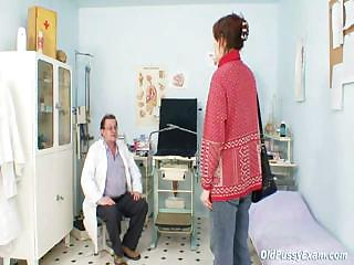 unpretty mature wife at pervy gyno nurse