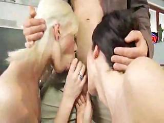 belgian woman eve karera joins a pair and bangs