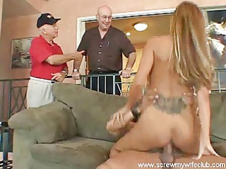 hubby enjoyed watching busty belle fucked uneasy