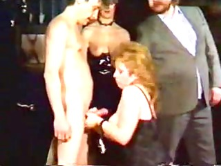 elderly albino slave chick shows to be dominated