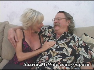 elderly loveliness offered by openminded hubby