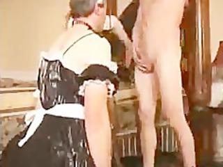 sissy man sucks penis for maiden bdsm bondage