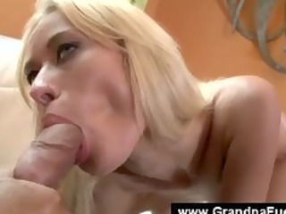 blonde sluty fresh sexing bad ass grandpa