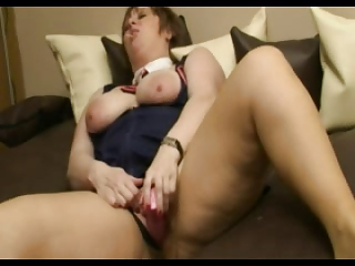 bbw mature slag licking a lolly
