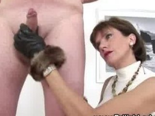 british giant boobs cougar lady handjob