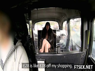 naughty slut pays the taxi with anal