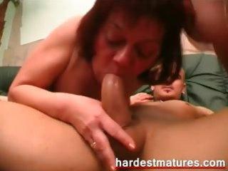 bisexual elderly pair sharing dick