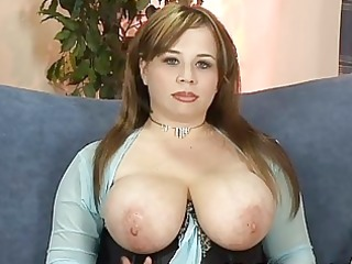 giant boobed angel girl exposes and pleases