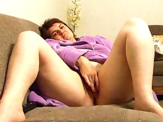 plump chick joanne wipes cave on furniture