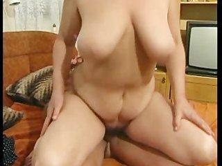 slutty granny got her furry vagina gang-banged