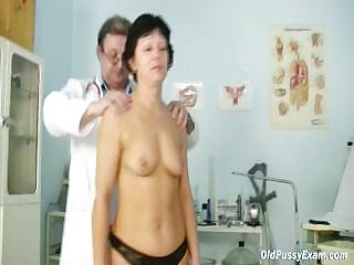 grown-up woman elea visits gyno nurse to obtain