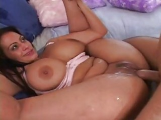 older brunette with enormouse bossom obtains her