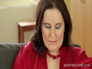 stockinged mommy uncovering large breast