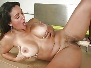 tanned horny angel acquires fucked by drilling