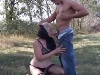 desperate pale granny opens elderly pu...