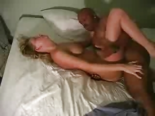a cuckold man films his blonde wife with a bbc