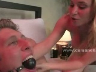 blonde busty newly wed woman transforms into